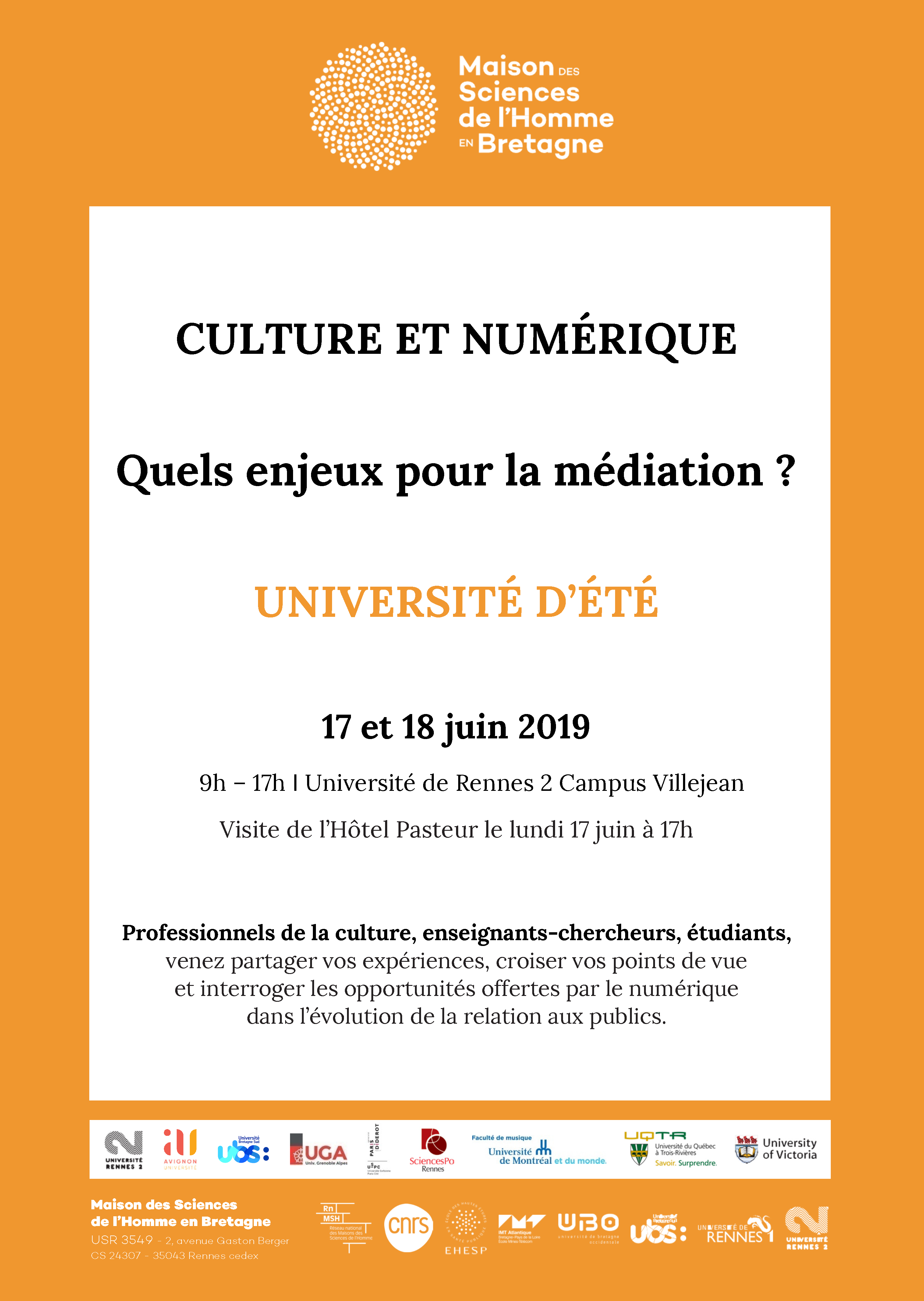 Flyer Université d'été