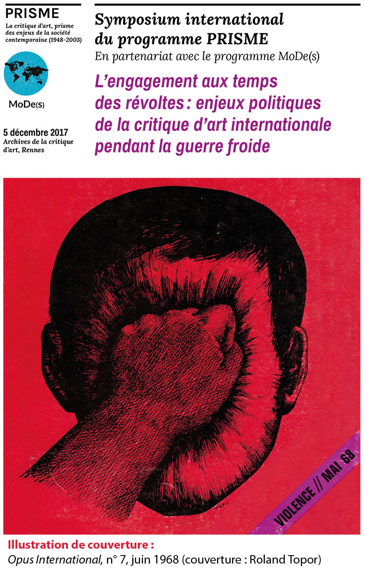 Illustration de couverture : Opus International, n° 7, juin 1968 (couverture : Roland Topor).