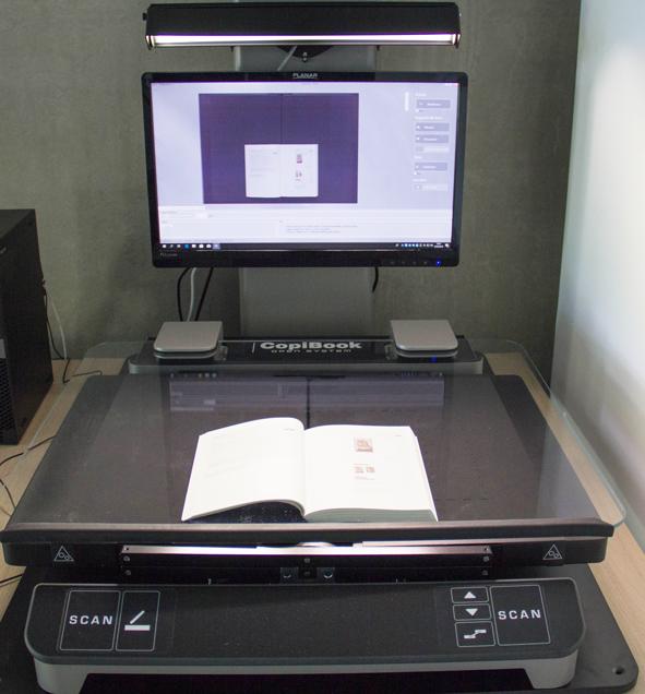 MSHB - Espace de numérisation - Scanner Copibook OS